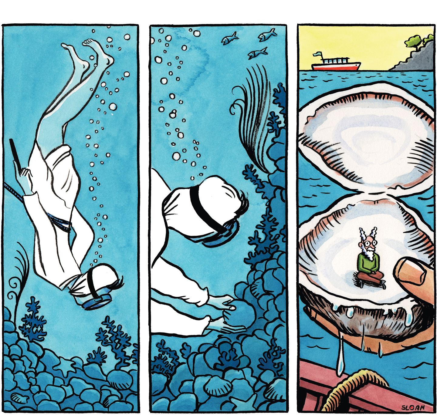 #3: The Pearl Diver.
