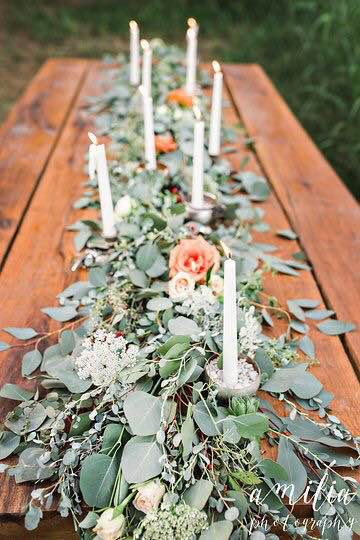 Guesses - $30 - $300    Average - $75    Actual cost - $175    Having greens placed on a table like this is definitely more cost effective than have a garland created