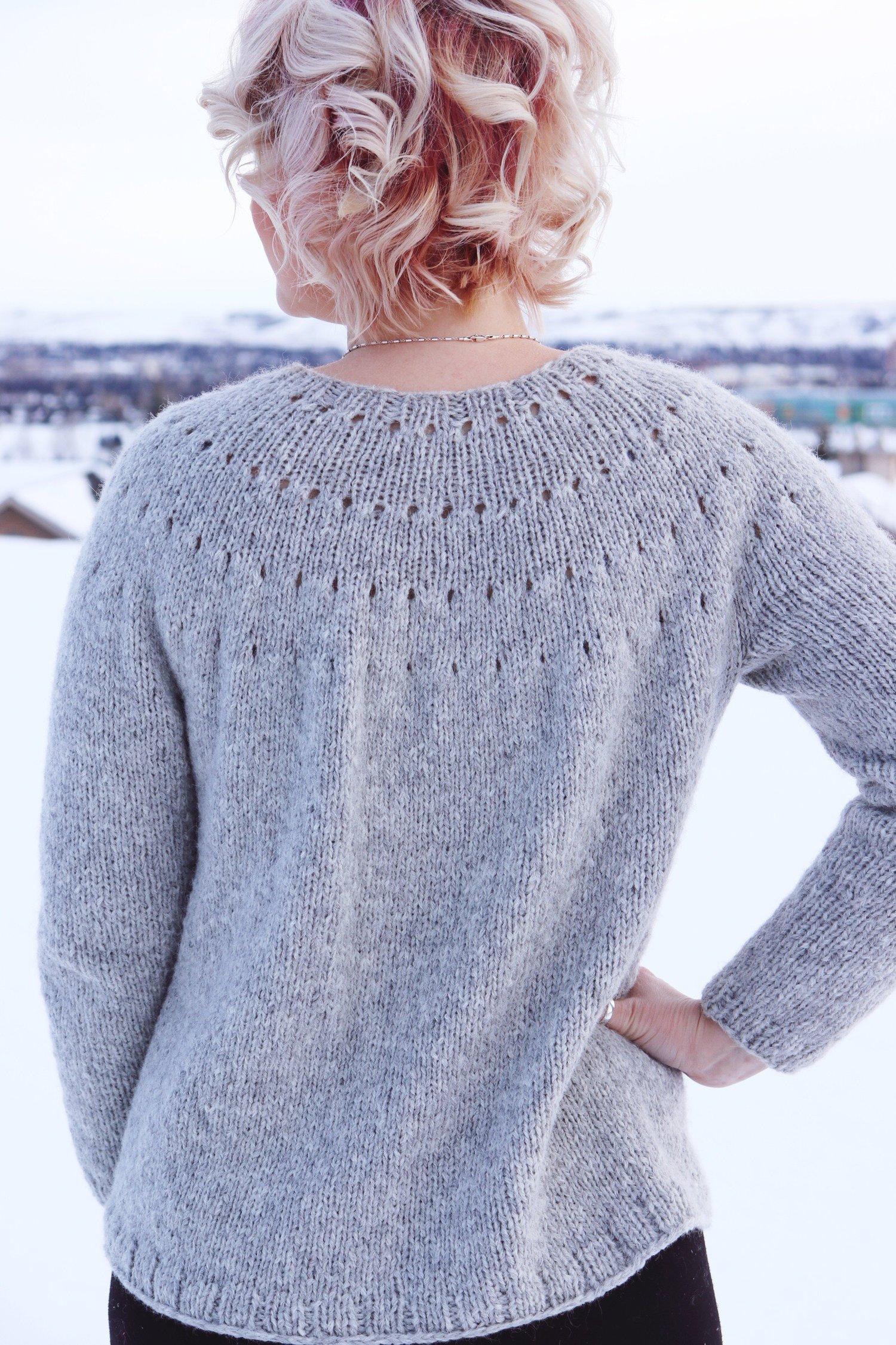 Knitting A Top Down Yoke Sweater The Easy Eyelet Yoke