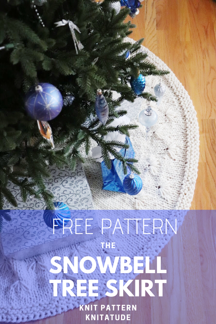 Snowbell Holiday Tree Skirt Free Pattern Knitatude