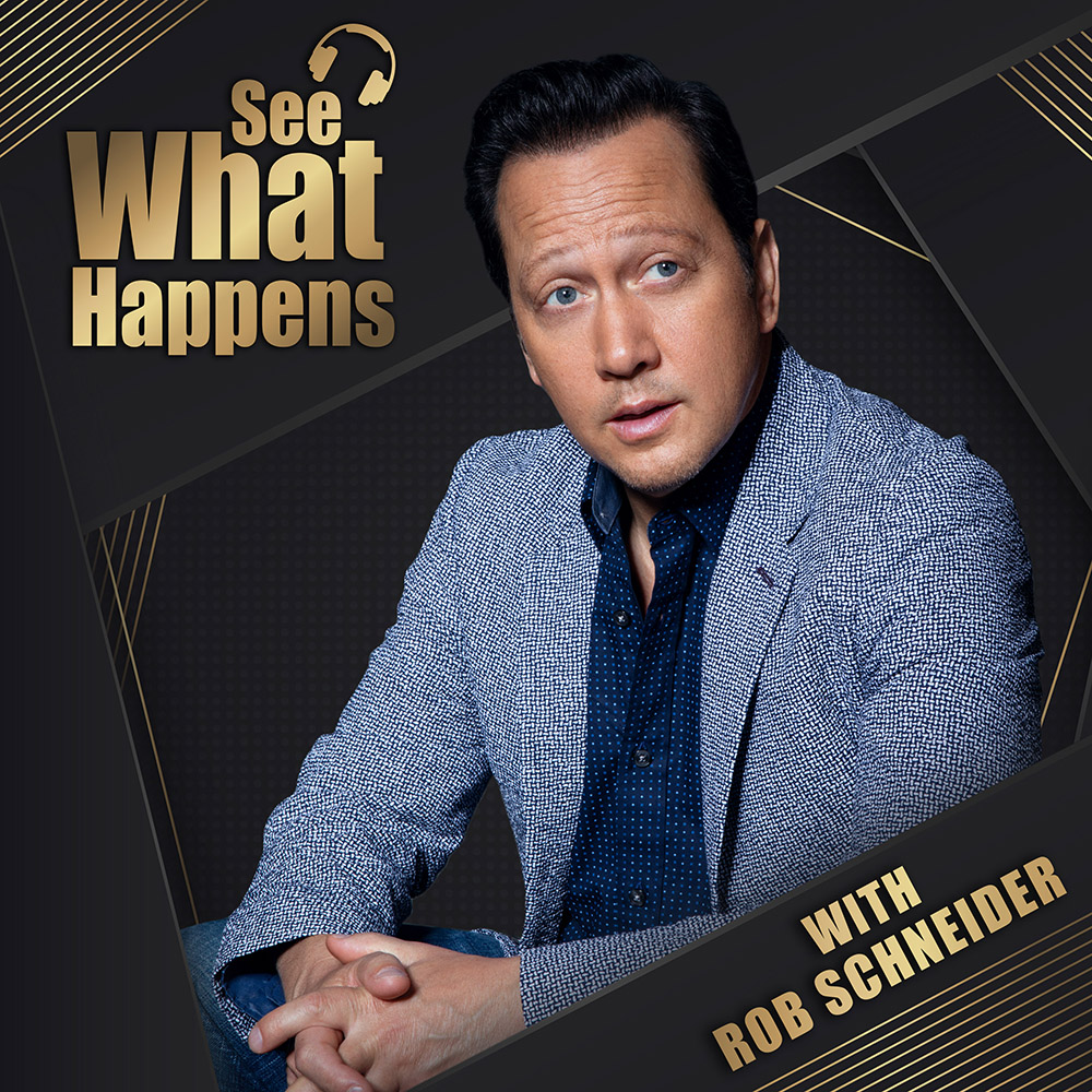 See What Happens - Is a weekly podcast from husband and wife, Rob Schneider and Patricia Maya. Along with the occasional guest (everyone from the duo's Hollywood friends to their gardener), the Schneiders dissect show business, their contrasting parenting methods, jokes, good food, philosophy, and then some. Be sure to tune in each week to see what happens!