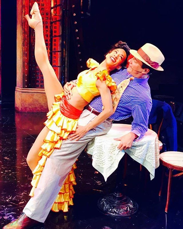 #fbf #GuysAndDolls @milwrep with the one and only @thenickrod. ❤️🎭 🎬: Mark Clements 📸 💃🏽🕺🏻: @stephen.mear 🎹🎶: @instadan888 👗 👔: @alextecoma 💇🏽: @bobbithy 👠👠: @laducashoes  #runyonland #musical #fable #havana #cuba #dulcedeleche #dicegame  #actor #singer #dancer #representationmatters #browngirlsdoballet #nativeproud #blackgirlmagic