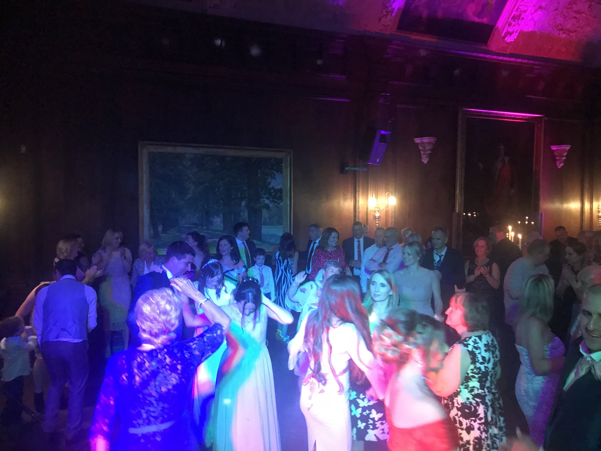 This photo was straight after a first dance at the amazing and beautiful Thornton manor