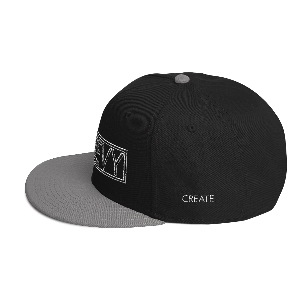 High-Profile-Hat-Black-Outlined_A.Bevy-Full-PNG-Black_Black-Bird_CREATE_mockup_Left-Side_Gray--Black--Black.png