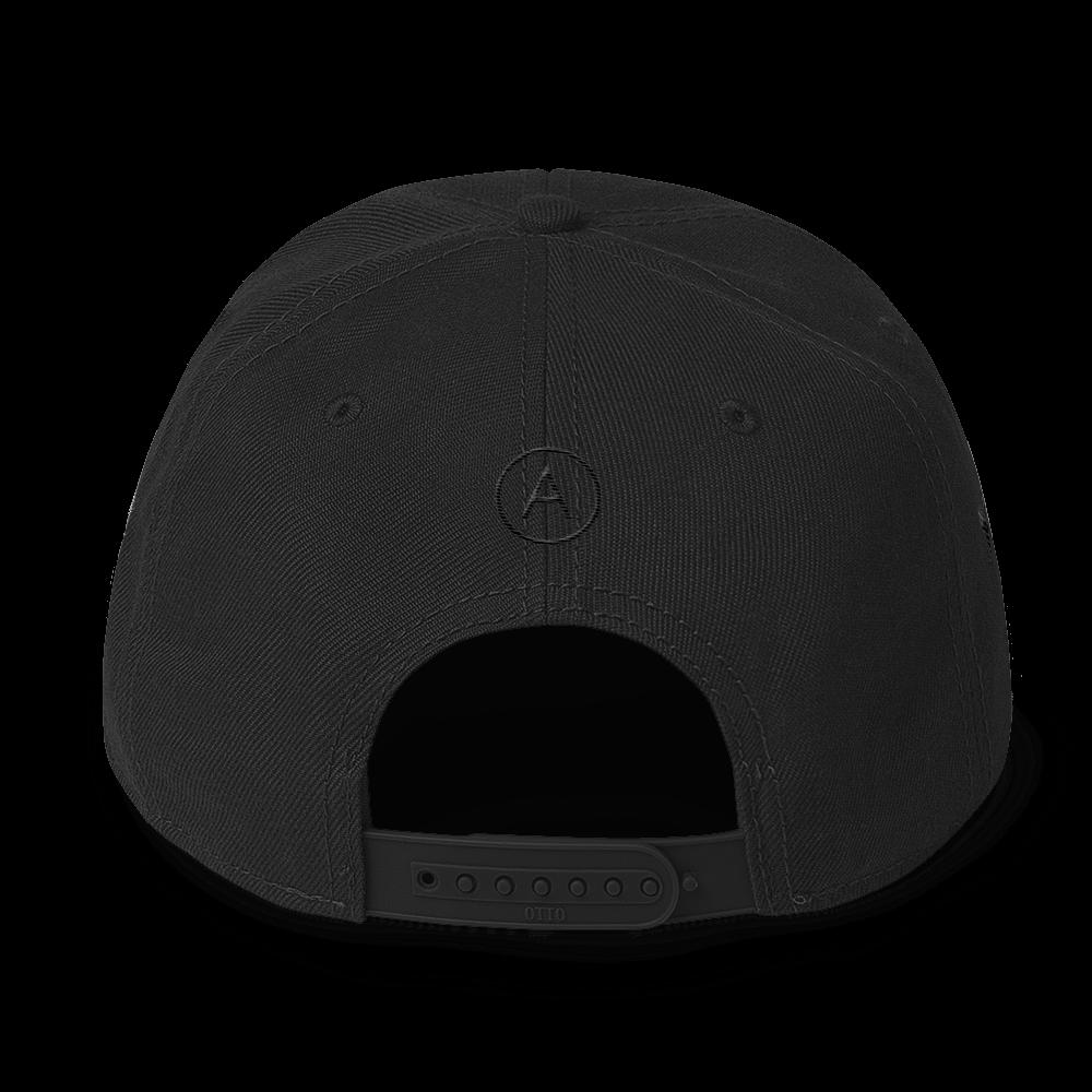 High-Profile-Hat-Black-Outlined_A.Bevy-Full-PNG-Black_Black-Bird_CREATE_mockup_Back_Black.png
