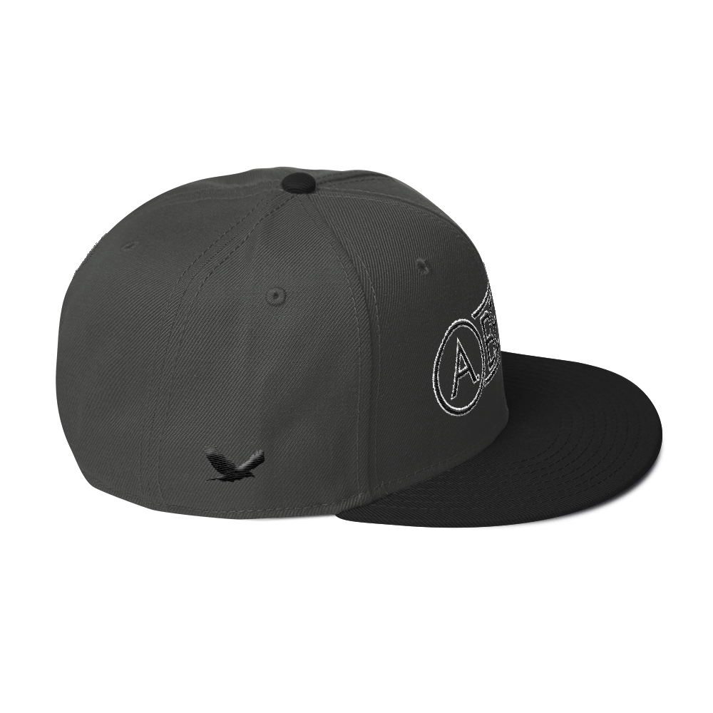 High-Profile-Hat-Black-Outlined_A.Bevy-Full-PNG-Black_Black-Bird_CREATE_mockup_Right-Side_Black--Charcoal-gray--Charcoal-gray.png