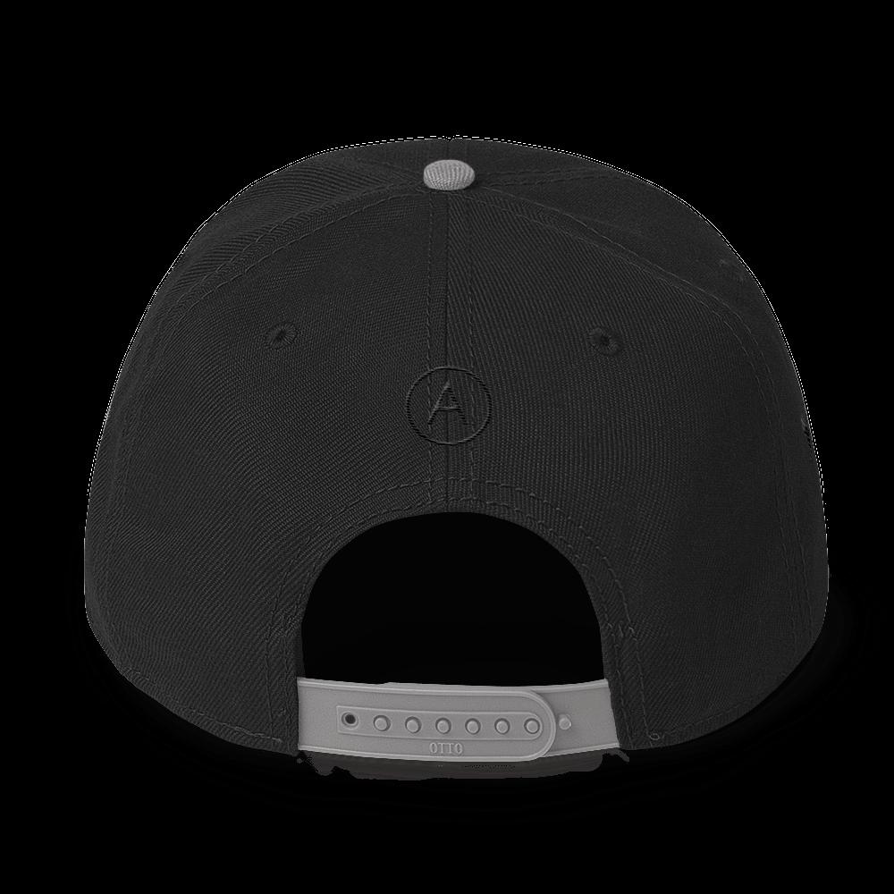 High-Profile-Hat-Black-Outlined_A.Bevy-Full-PNG-Black_Black-Bird_CREATE_mockup_Back_Gray--Black--Black.png