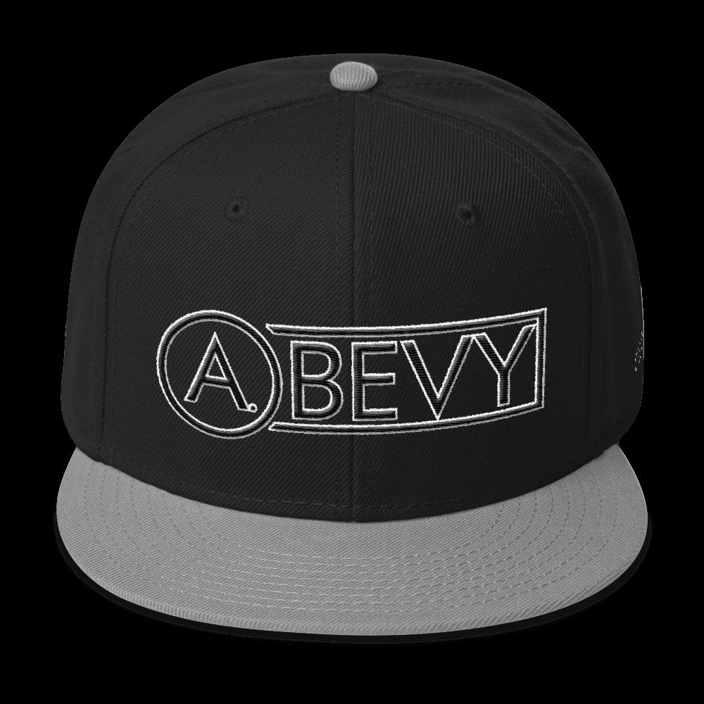 High-Profile-Hat-Black-Outlined_A.Bevy-Full-PNG-Black_Black-Bird_CREATE_mockup_Front_Gray--Black--Black.png