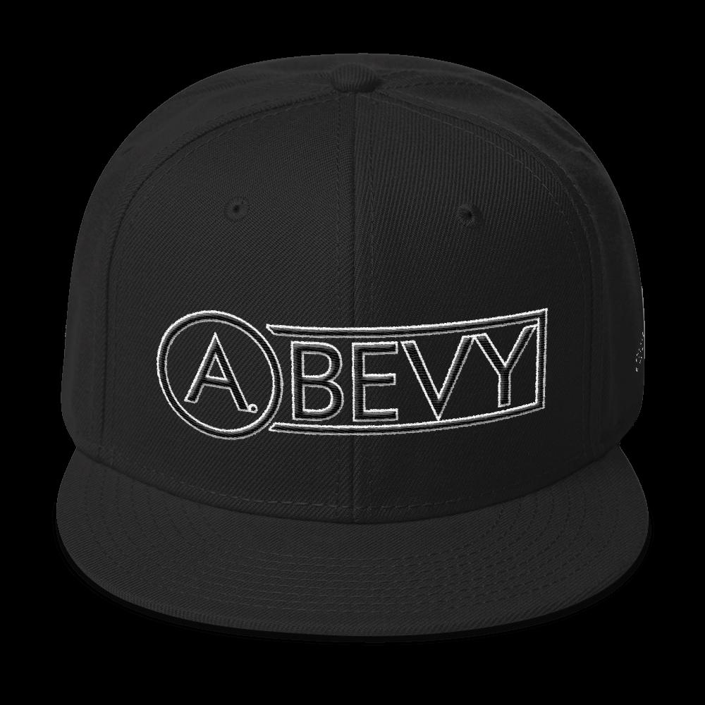 High-Profile-Hat-Black-Outlined_A.Bevy-Full-PNG-Black_Black-Bird_CREATE_mockup_Front_Black.png