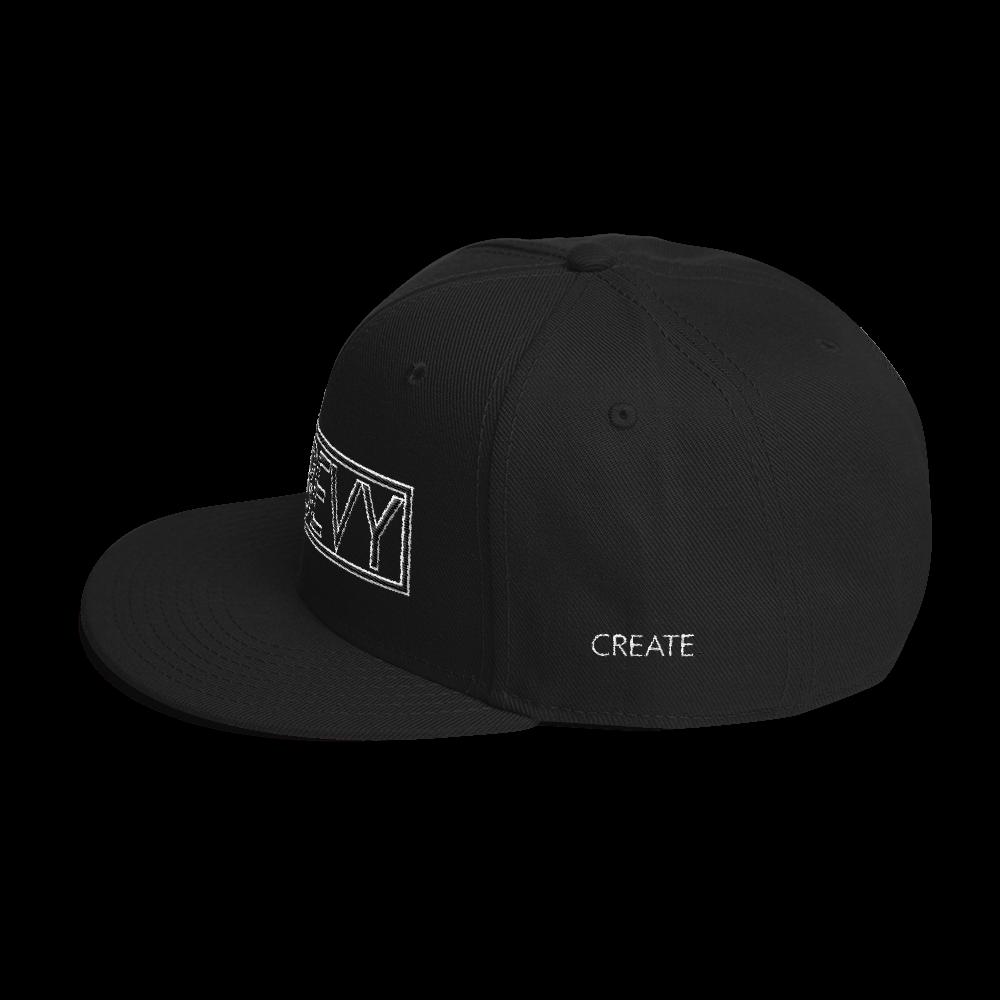 High-Profile-Hat-Black-Outlined_A.Bevy-Full-PNG-Black_Black-Bird_CREATE_mockup_Left-Side_Black.png