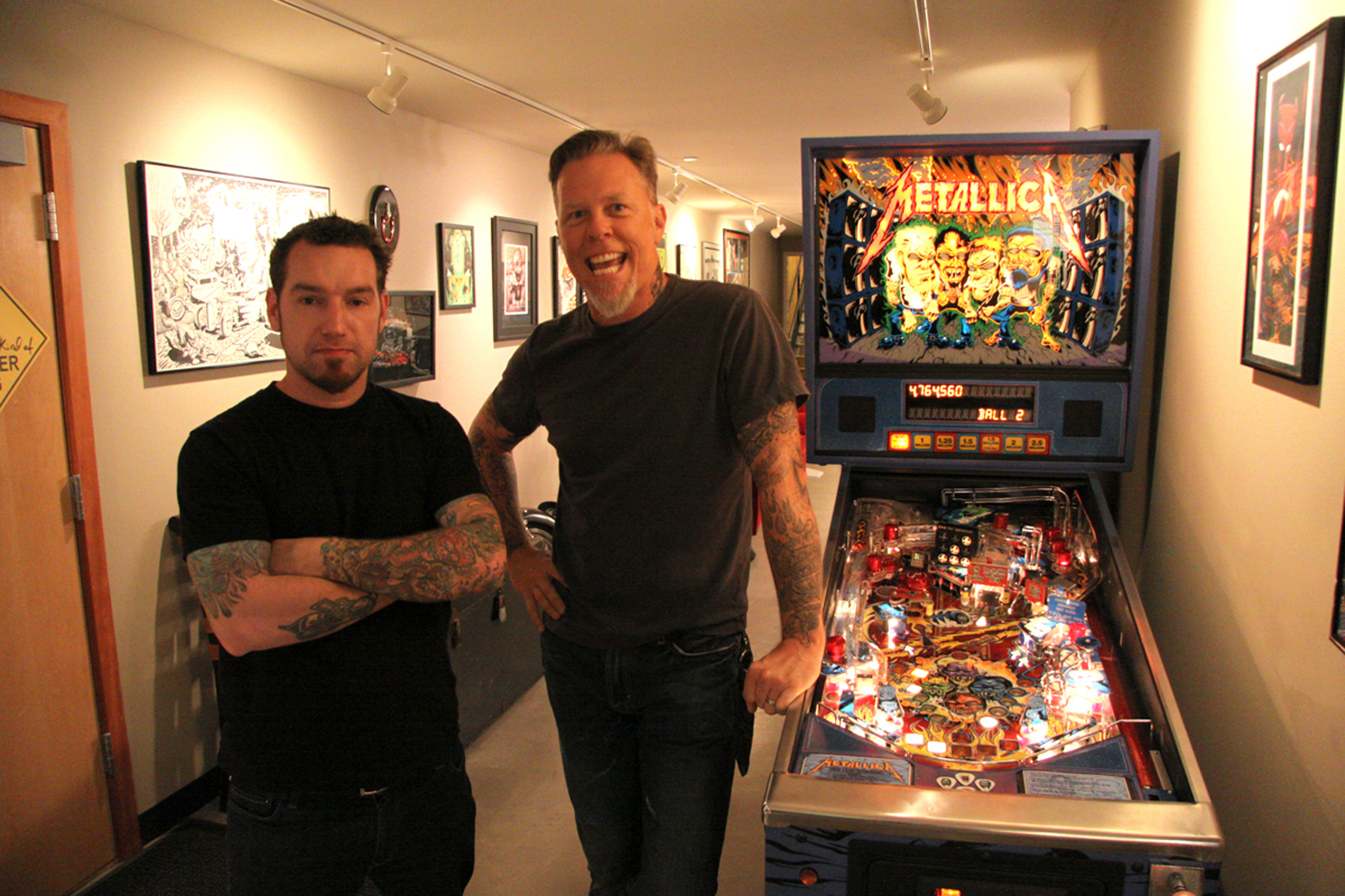 Donny and James Hetfield at Metallic HQ  Photo: Jeff Yeager