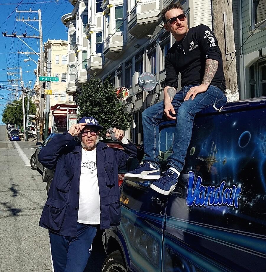 Ricky Powell and DD hanging at Haigh and Fillmore San Fransisco  Photo:Ricky Powell