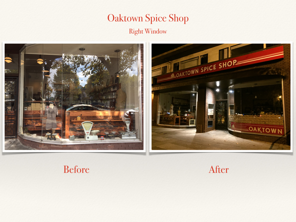 Before and After Oaktown Spice Shop