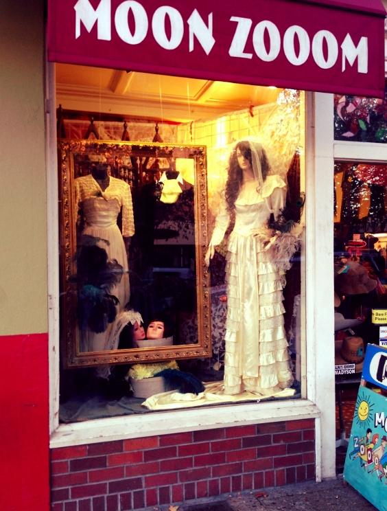 Moon Zooom Halloween Bride Window Display