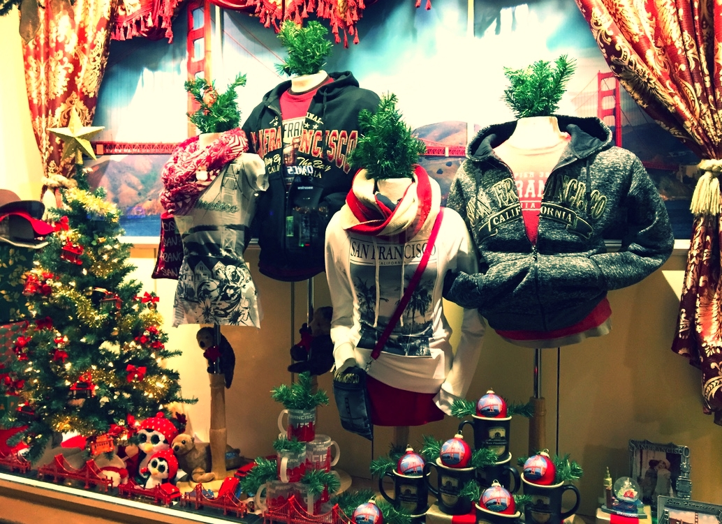 Shirtique Holiday Window Display