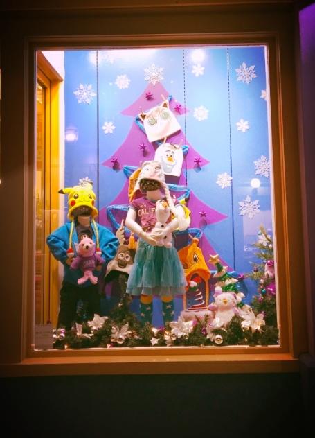 Krazy Kaps Holiday Window Display