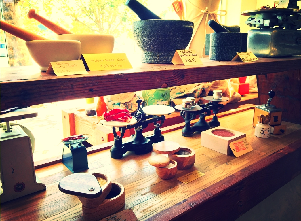 Mortar and Pestle Store Display