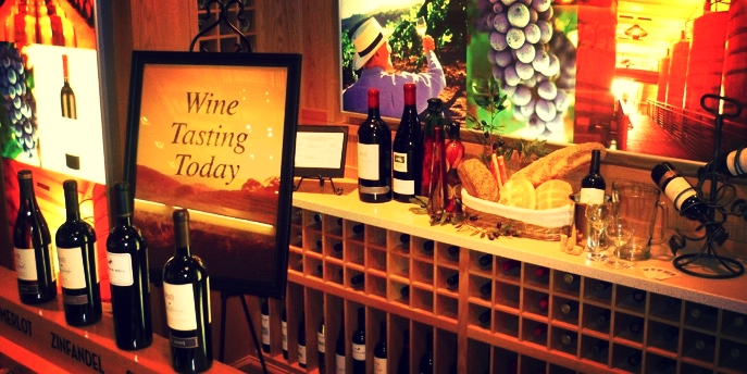 Wine Tasting Area Store Display
