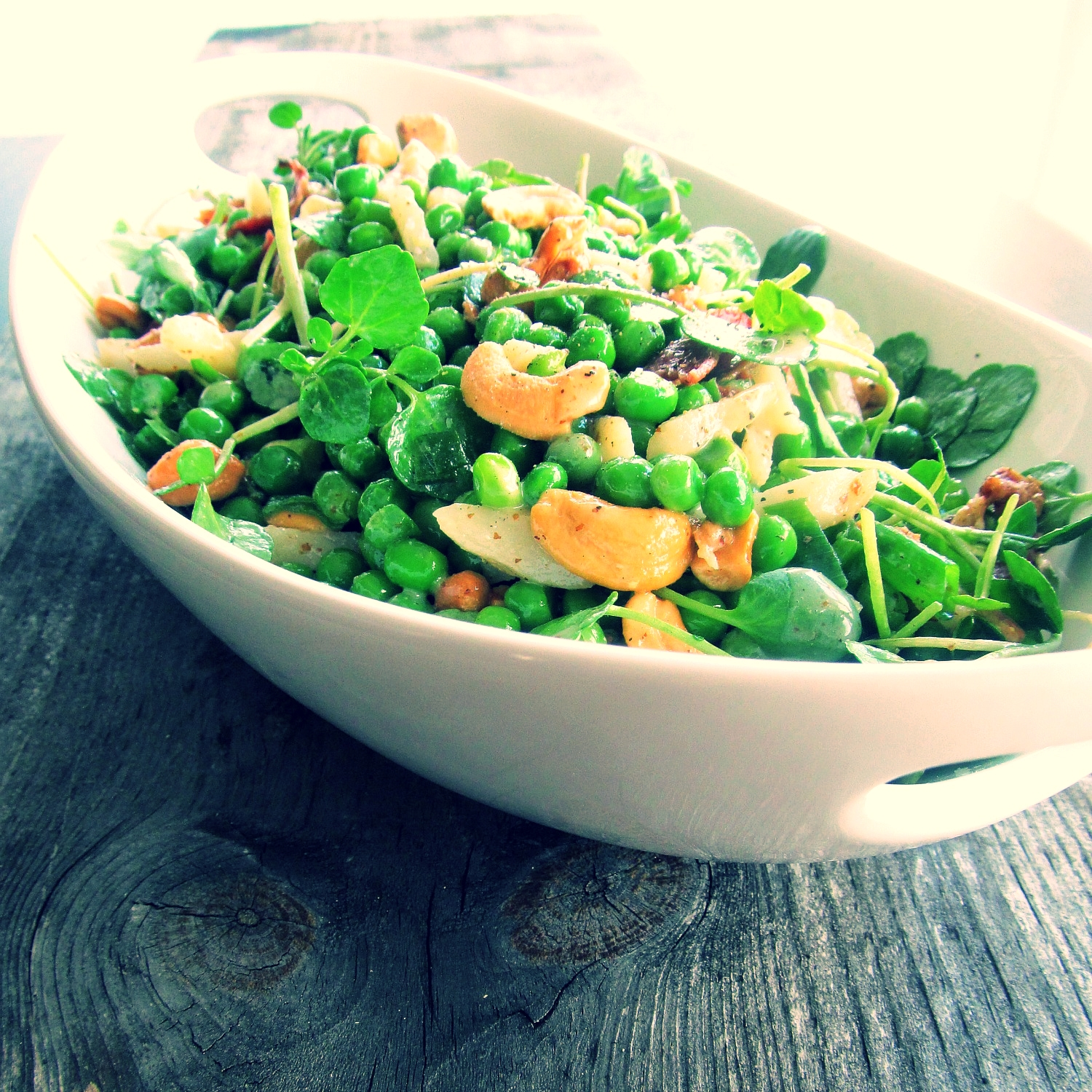 a dash of presentation turns a boring plate of peas into an exciting dish!