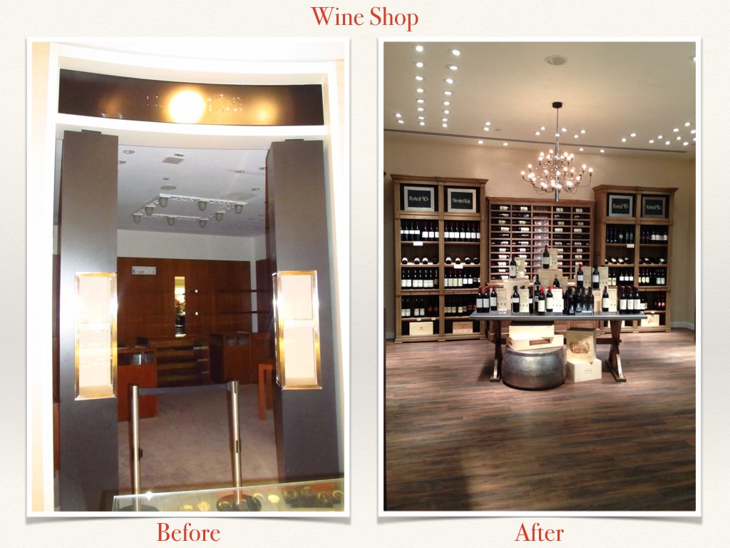 Before and After Wine Shop