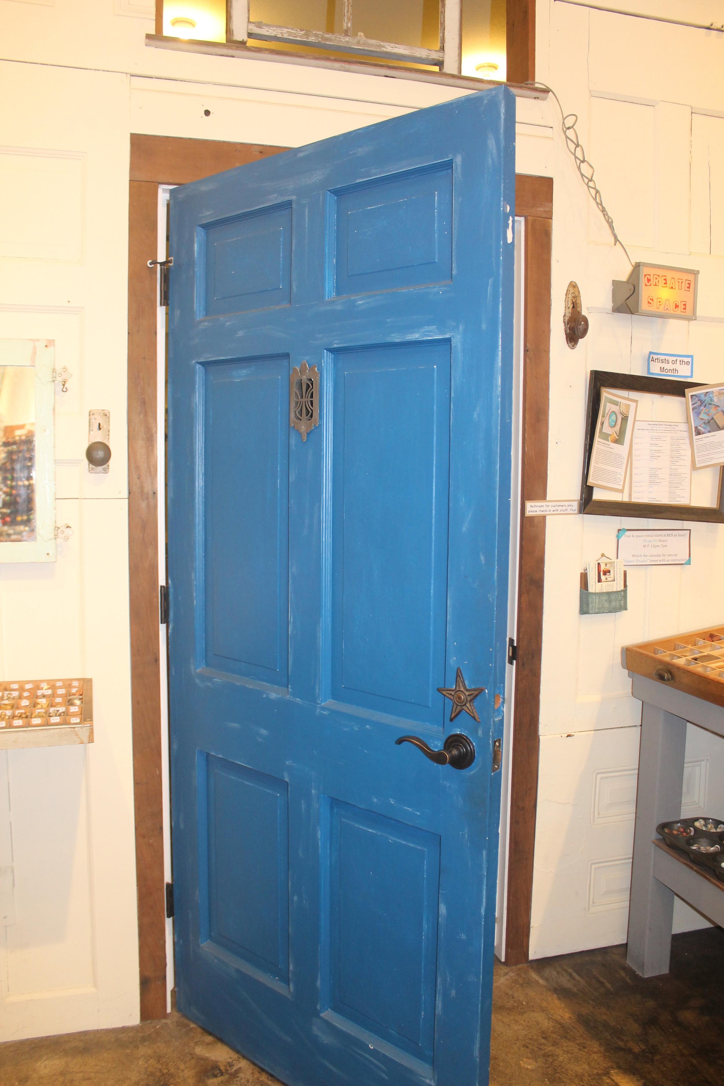 The famous blue door
