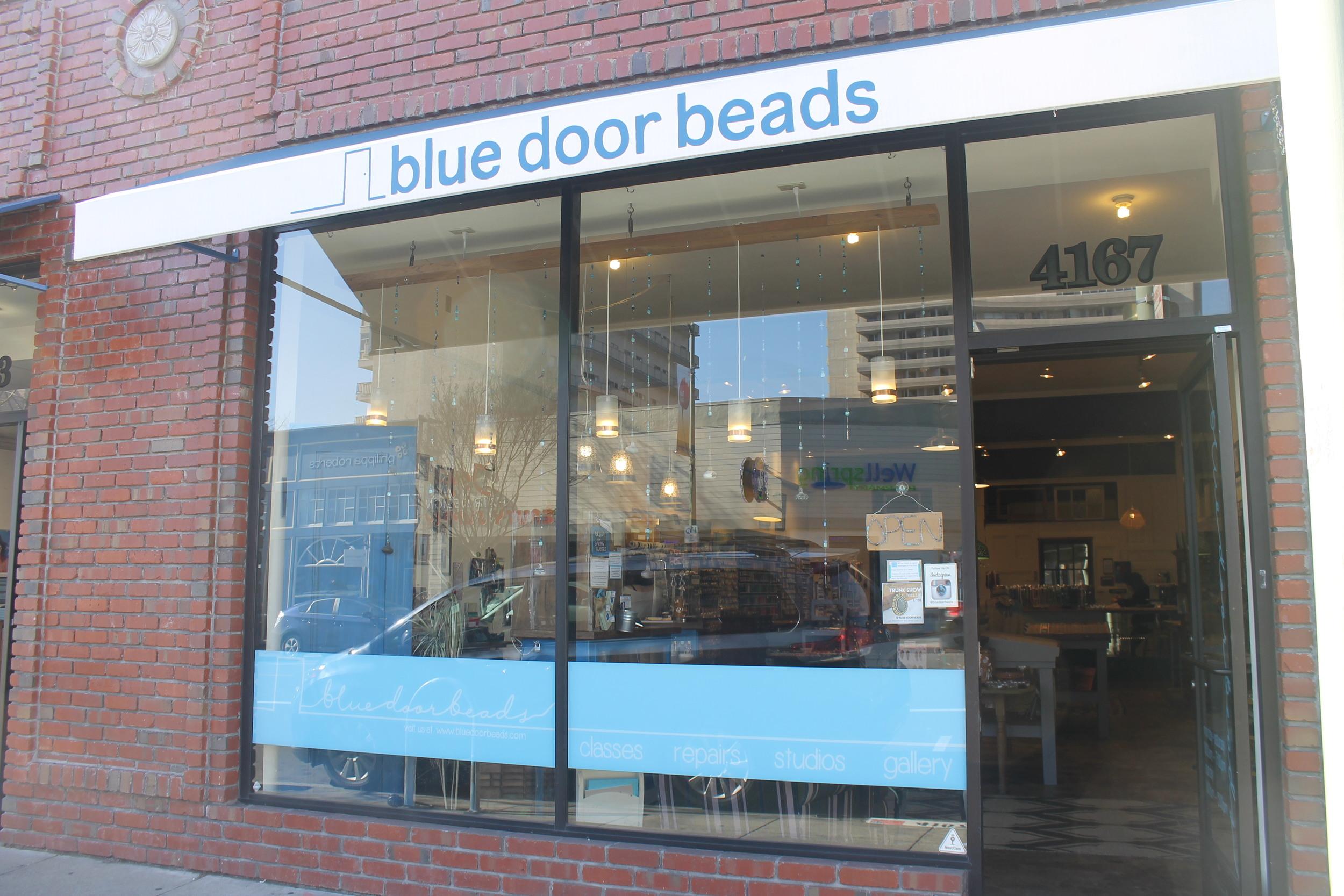 Blue Door Beads shop entrance