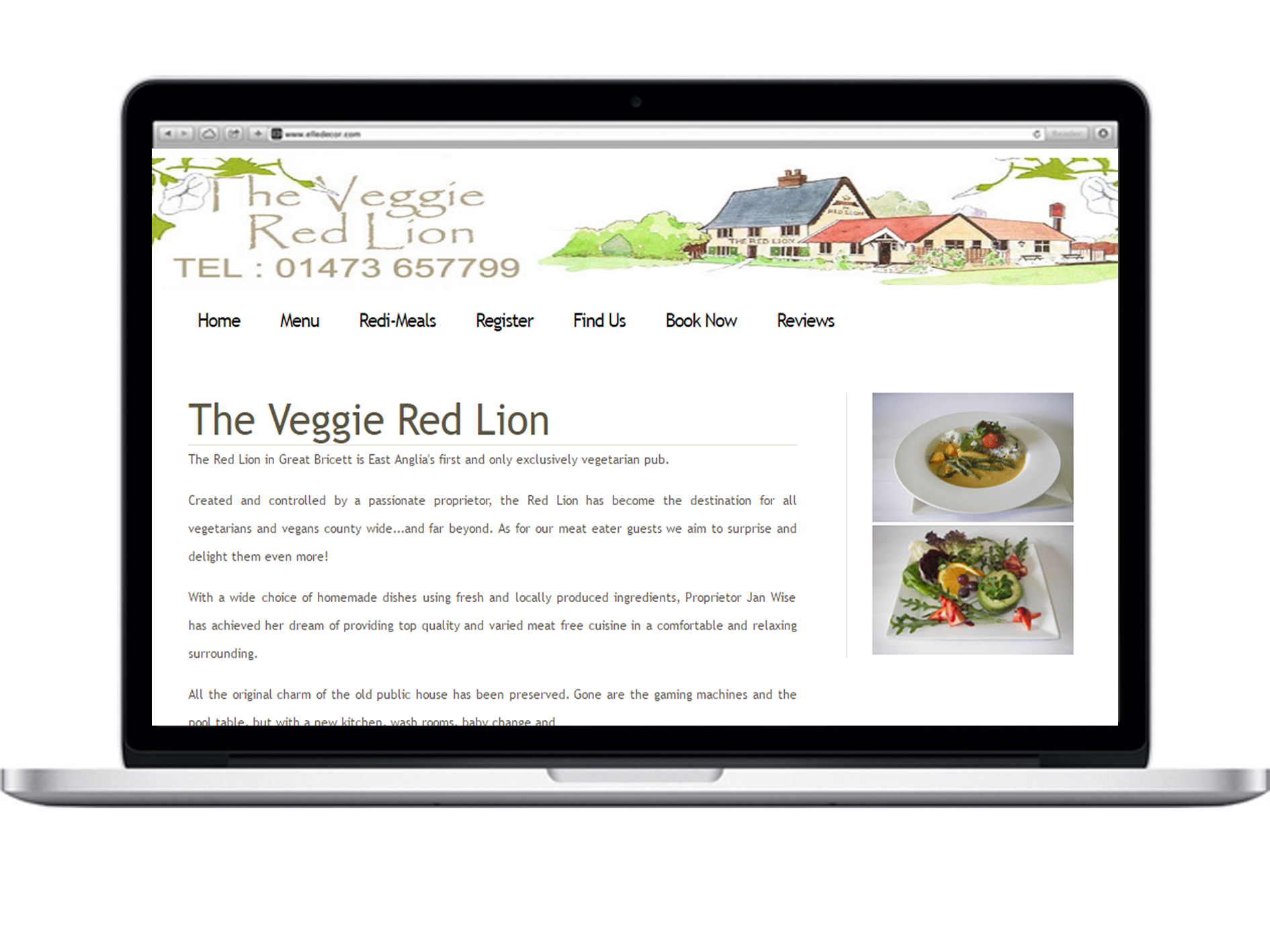 The Veggie Red Lion. 10 minute drive