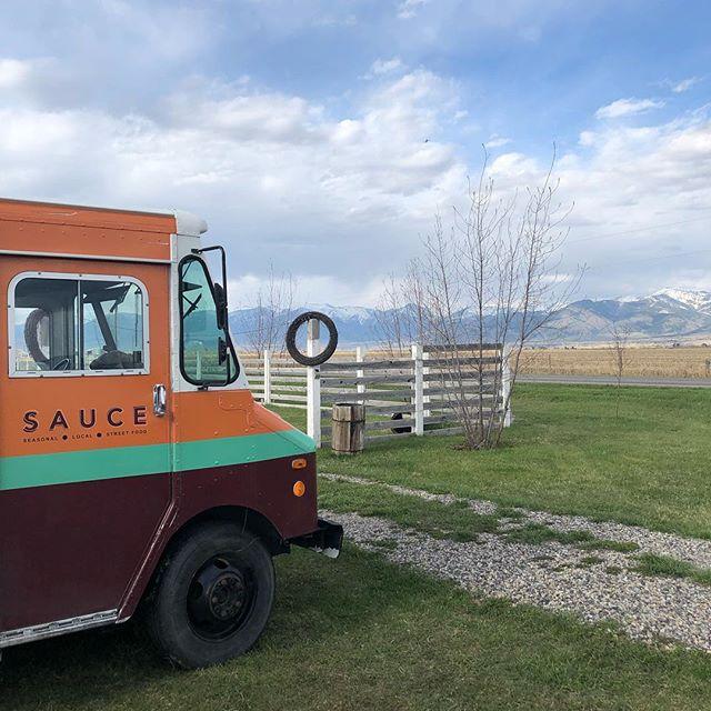 Spring in Montana is tough to beat! #saucecatering #saucefoodtruck #bozeman #montana #caterer