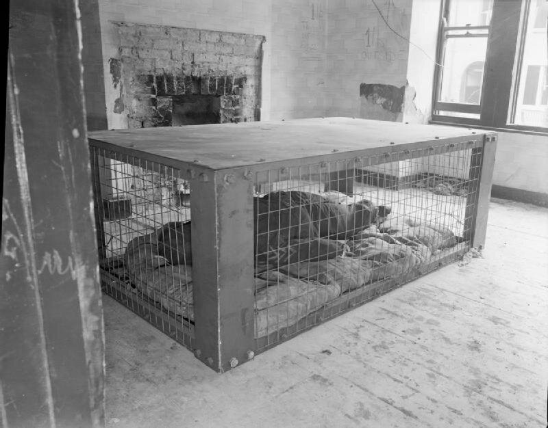 The Morrison shelter. This was a trial of the new shelter design from 1941. Image courtesy of Wikimedia Commons.
