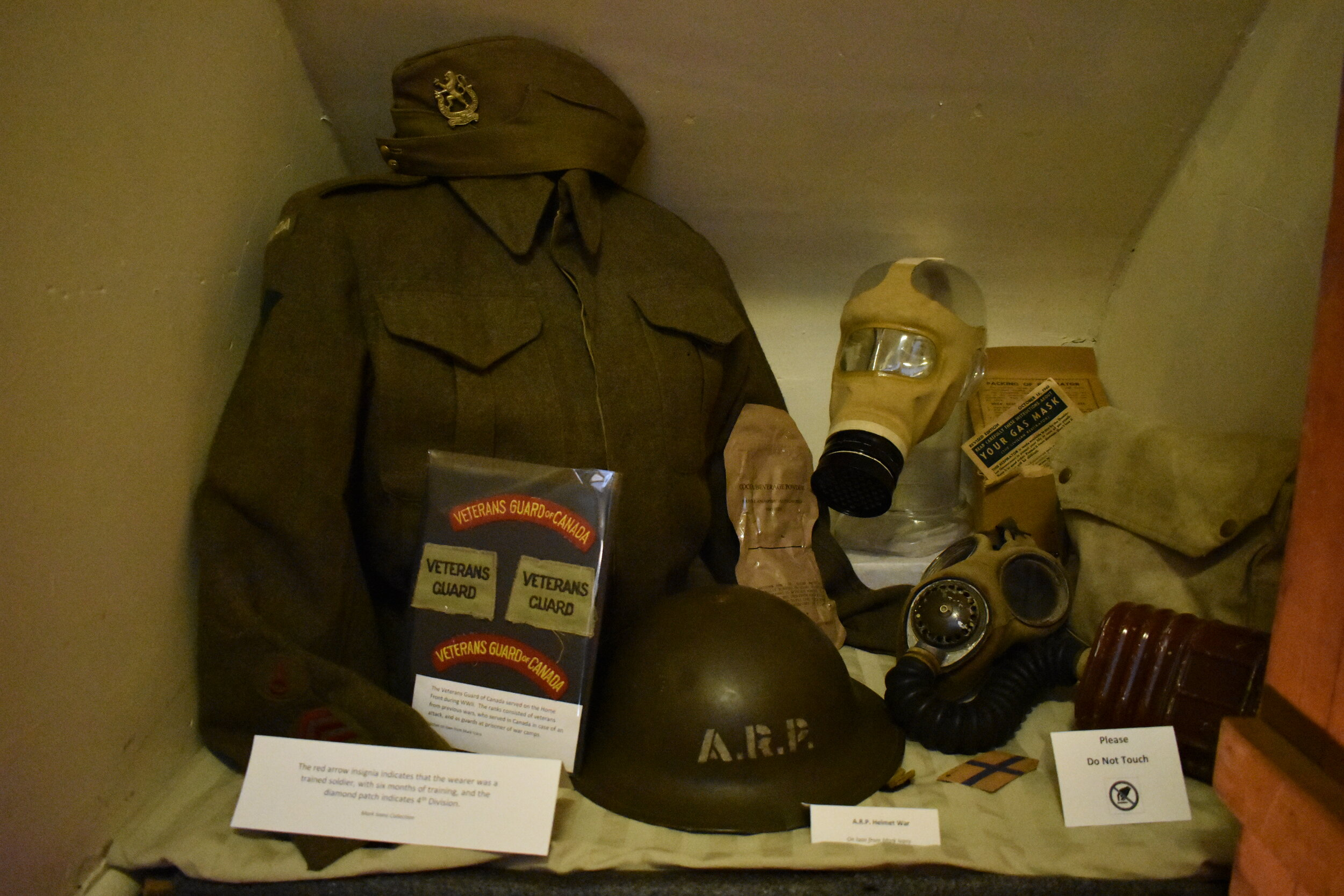 """You can view this collection of ARP artifacts above our """"bomb shelter"""" off the kitchen."""
