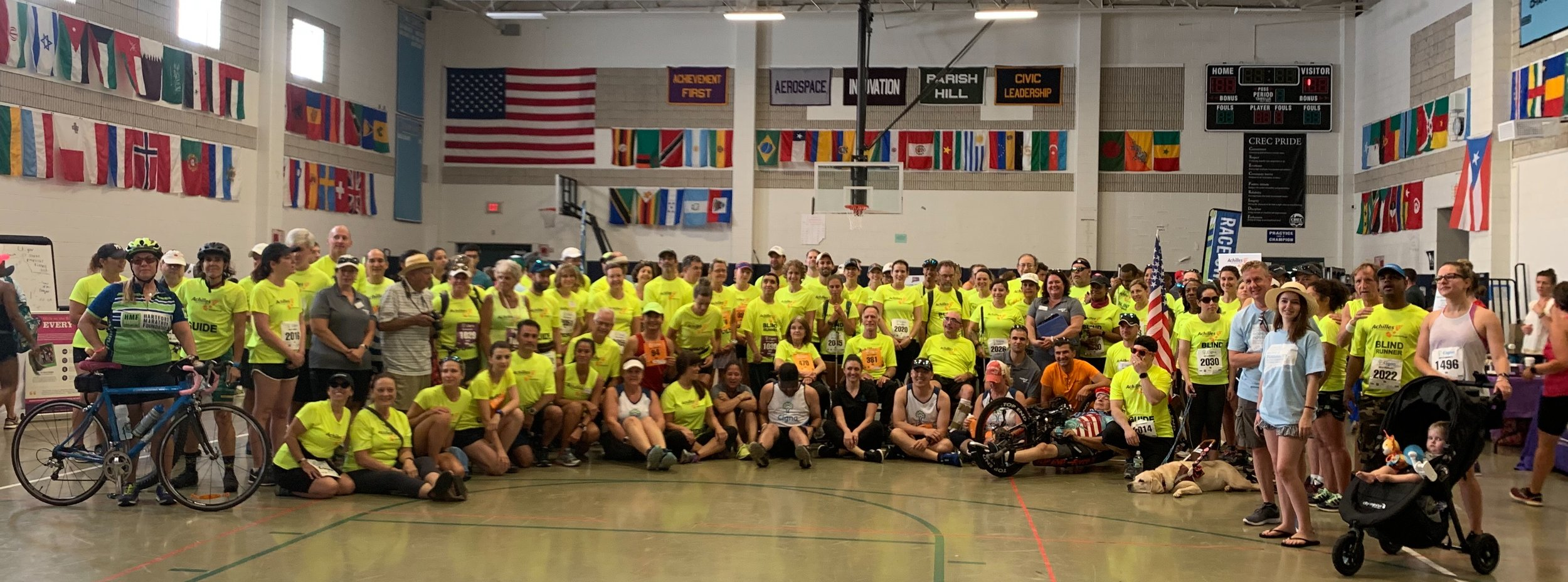 Ready, Set, Go! Achilles athletes and guides are pumped and ready to go at the 2019 Achilles Connecticut Hope & Possibility ®  presented by Cigna.