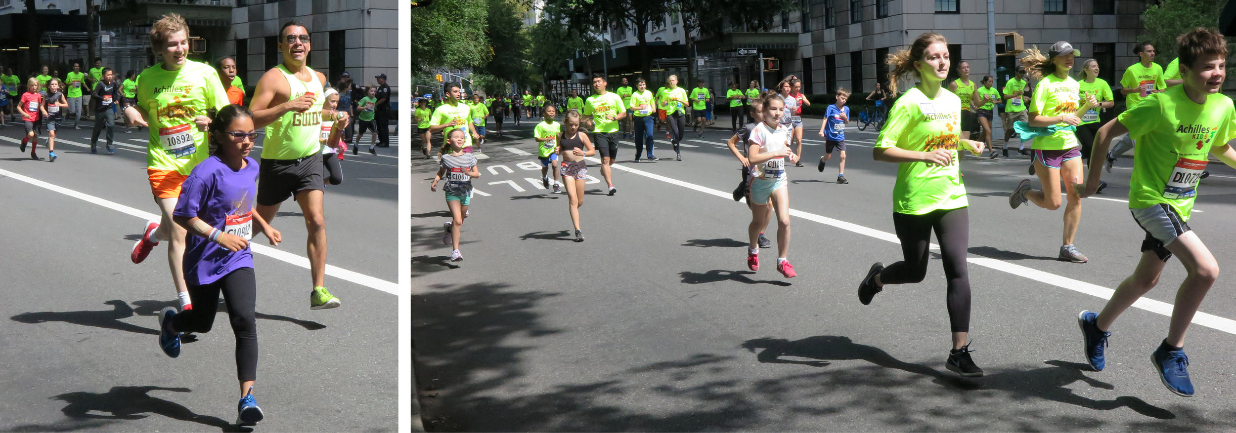 Achilles Kids at the New Balance Fifth Avenue Mile