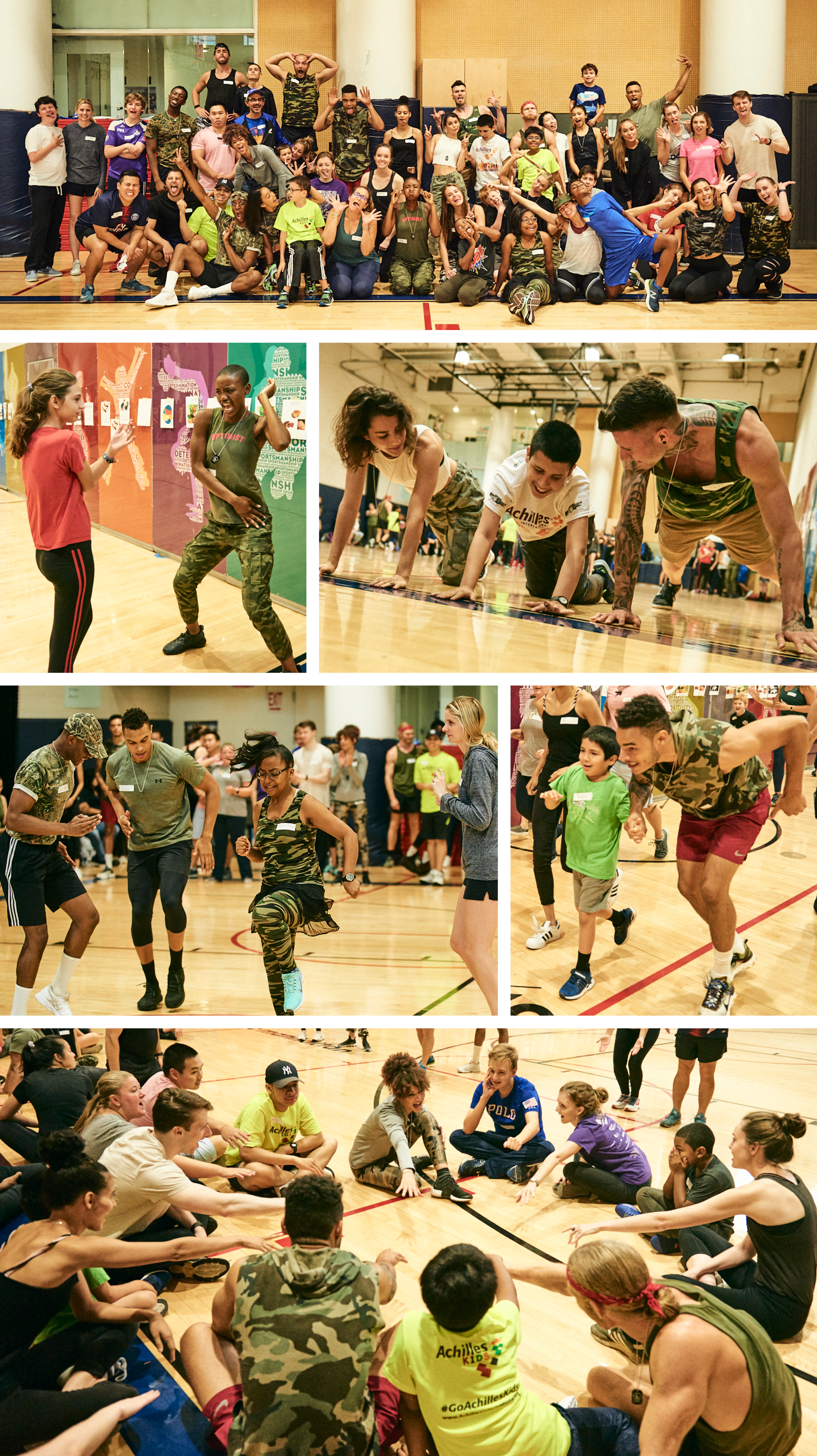 Just a few of the amazing moments from the Achilles Kids Boot Camp workout with the awesome volunteers from Wilhelmina! ( Photos courtesy of James Farrell, www.jamesfarrellphoto.com )