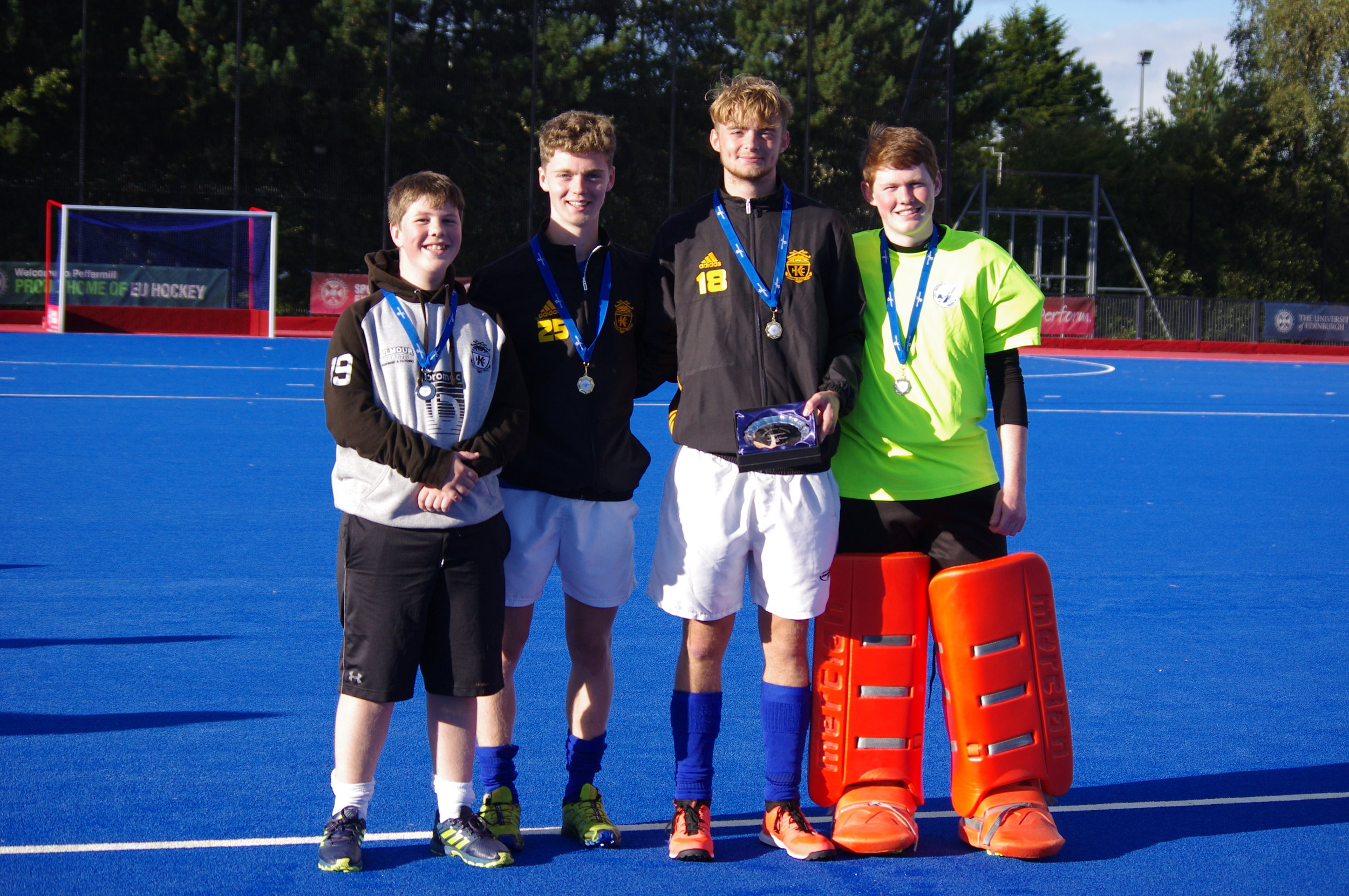 Kelburne players for Team West - Logan U16s, Niall, Finn and Logan for U18s