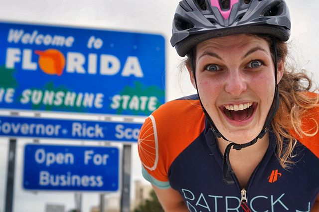 After the most eventful morning that included flat tires, apprehending criminals, and riding 19 miles in 75 minutes to catch a ferry, we made it. We are officially in the Sunshine State and couldn't be happier. We'll take a day off in Pensacola tomorrow and then set off to complete our final thousand miles. Today is Anne Davis's birthday, so today, and every day, is for her. We ride for those who no longer can. 📷: @thegregarious  #pro8000 #patrickrideson #adventurebybike #surlybikes #salsacycles #somafab #biketouring #pedalforever #worldbybike #roadslikethese #getoutstayout #sleepinthedirt #adventurecycling #southerntier #ortliebusa #brooksengland #cycleflorida #florabama #annerideson