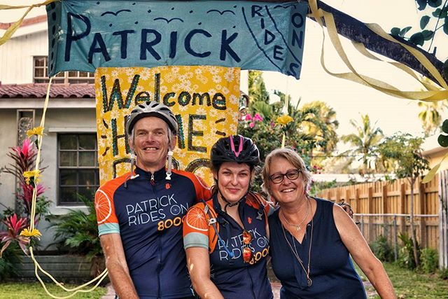 Florida gave us hell with 25mph headwinds for eighty miles, but we're here. In addition to arriving to Suzette and Patrick's home, we've also now successfully pedaled from the Pacific to the Atlantic. After three days off in Miami, we'll complete our final 170 miles down the Keys. Join us. We want to ride with you.