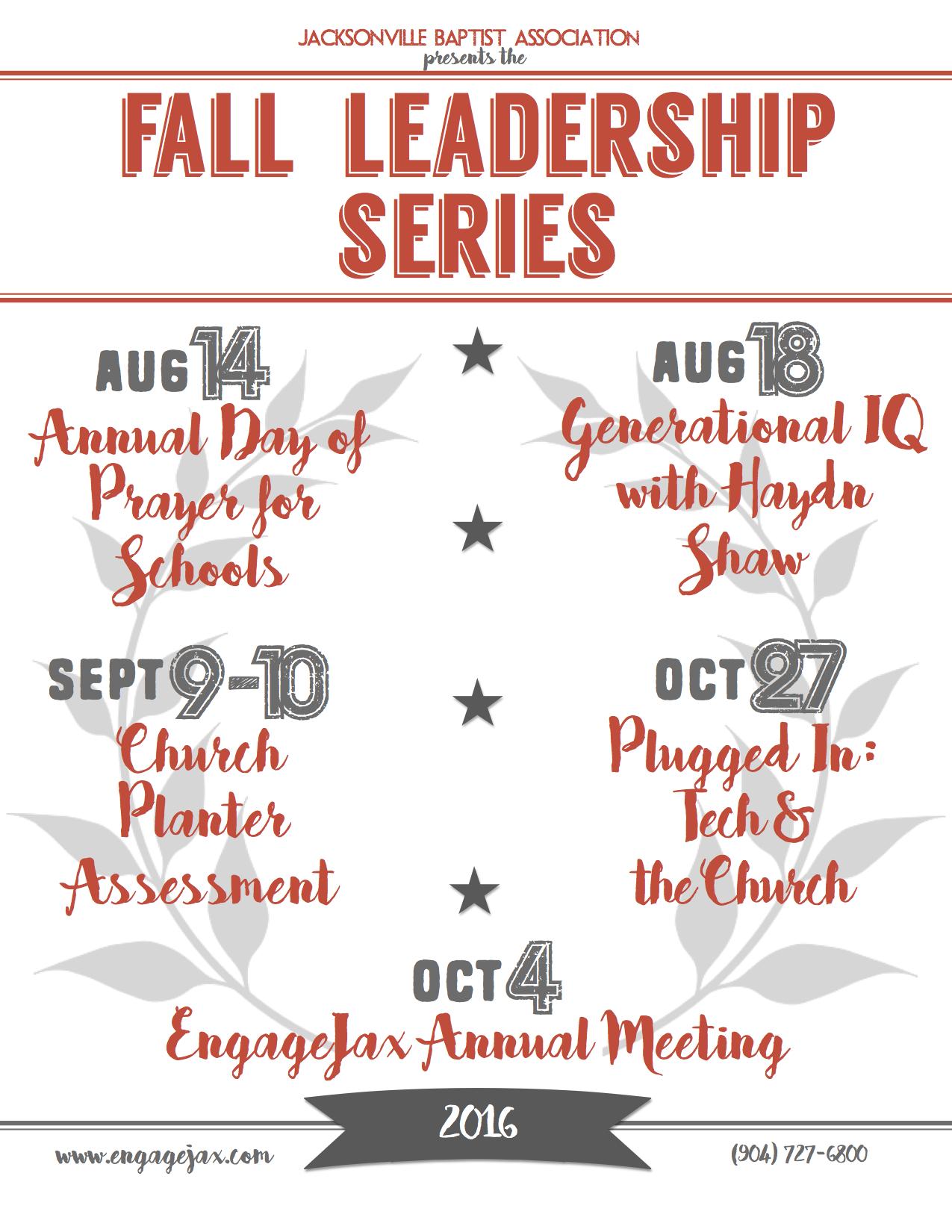 2016 Fall Leadership Series