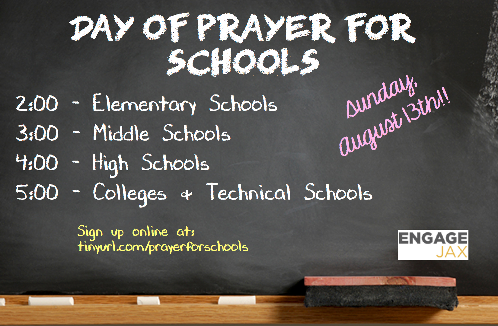 Day of Prayer for Schools 2017