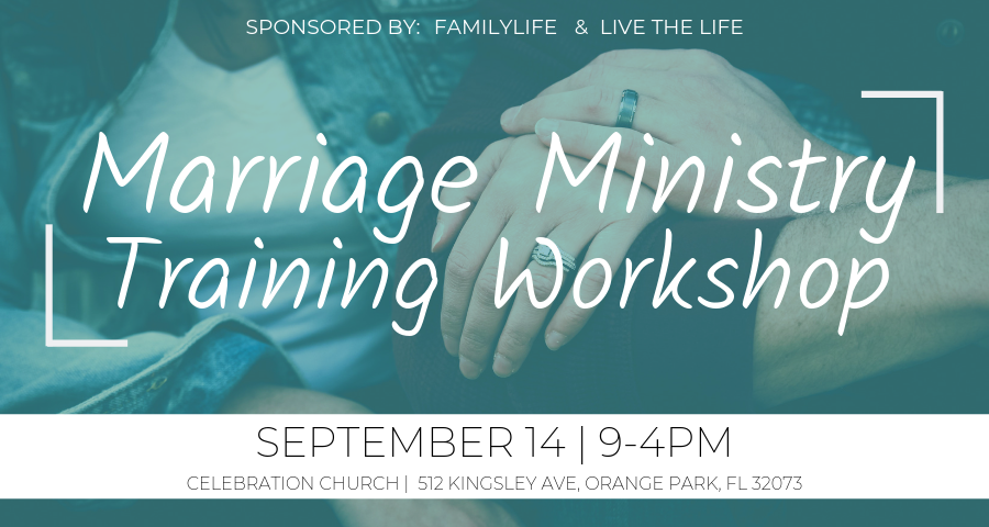 What does your church do to help cultivate healthy marriages? If you are looking for a way to establish or grow your churches Marriage Ministry, join this one day training workshop brought to you by Live The Life and FamilyLife. This hands-on workshop will help you create a strategic marriage ministry plan customized to your church's vision, culture, structure and demographics.   Registration link:  https://www.livethelife.org/famlife-conference-jax