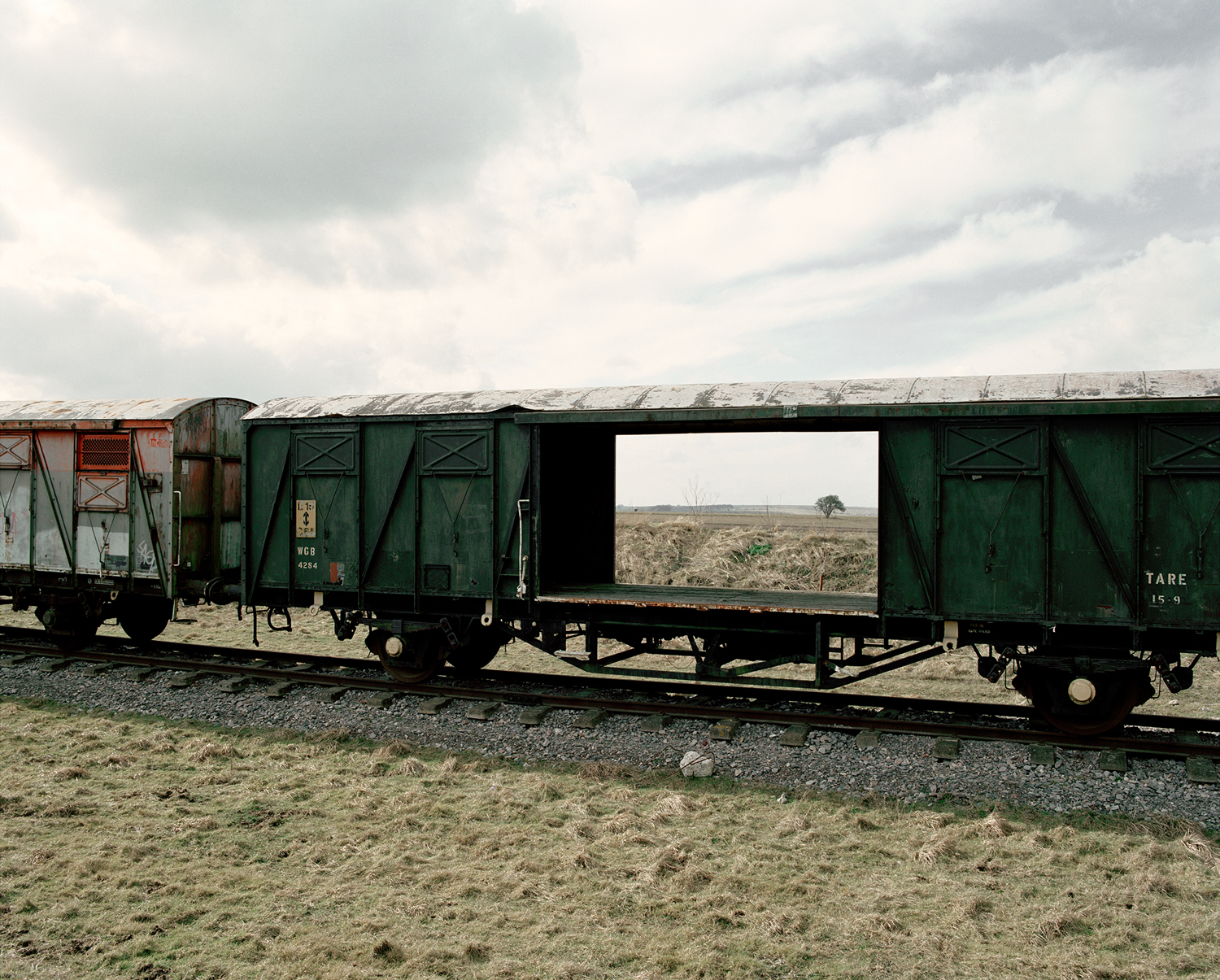 Train Carriages, Copehill Down, 2006