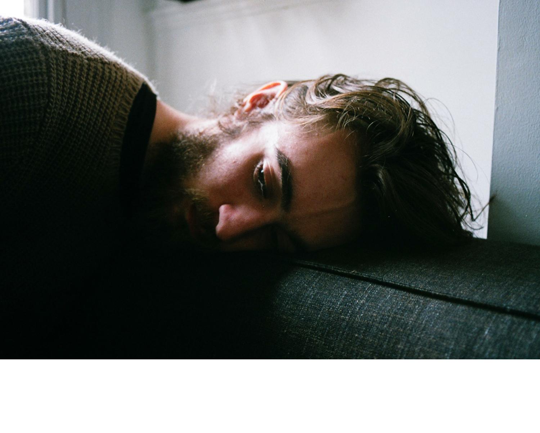 Keaton on the sofa, Richmond, 2012