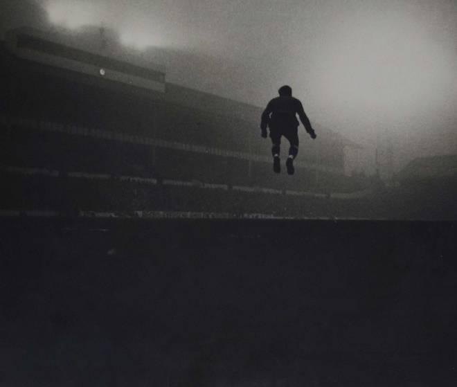 Goalkeeper John Hollowbread, White Hart Lane London, January 1964.