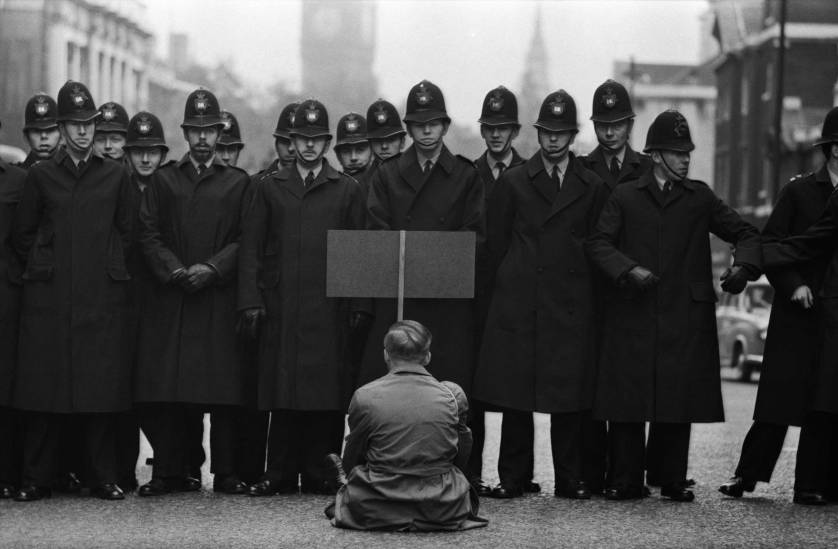 Protester, Cuban Missile Crisis, Whitehall, London 1963.