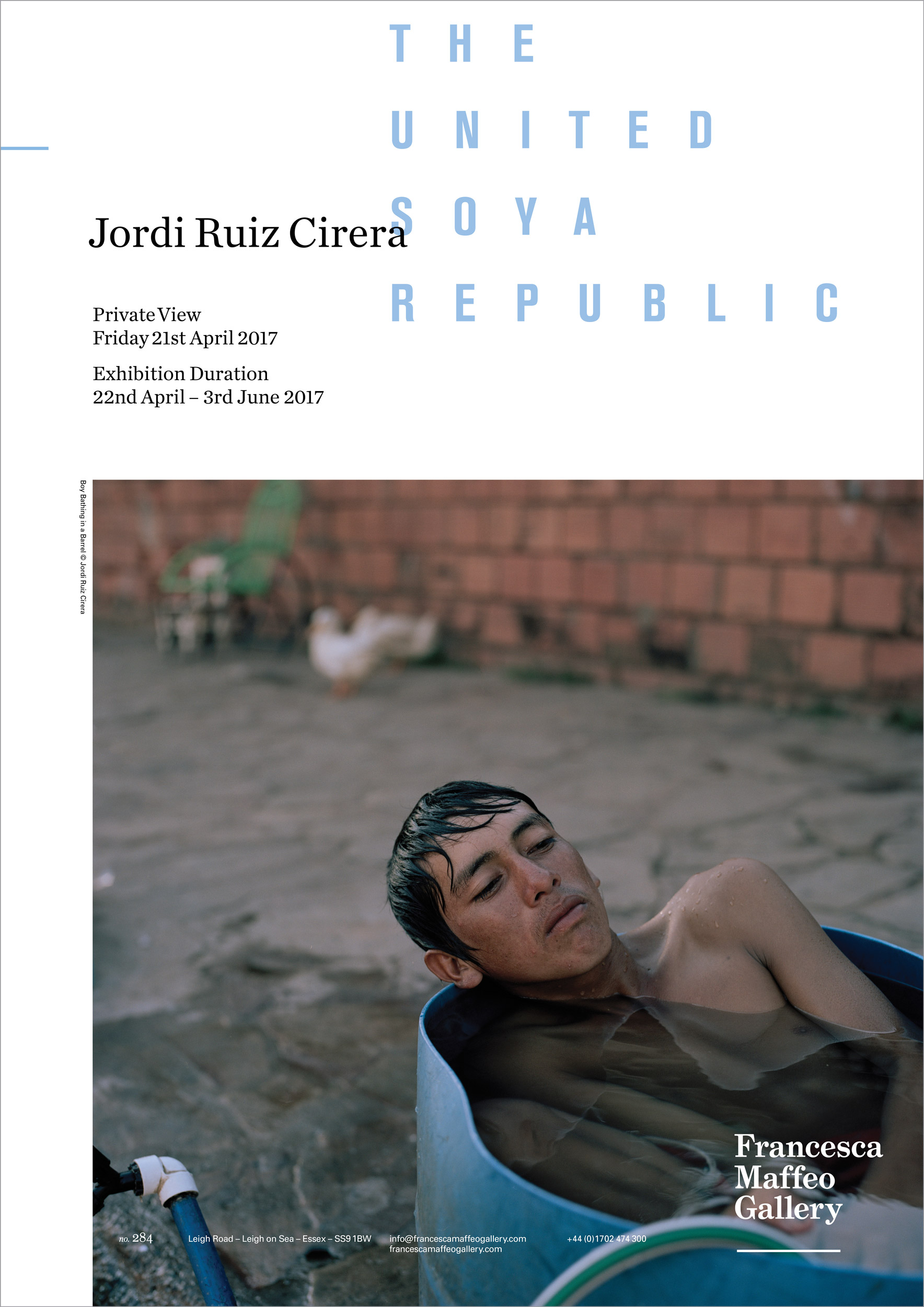 Jordi Ruiz Cirera | United Soya Republic     Press Release      Print Sales
