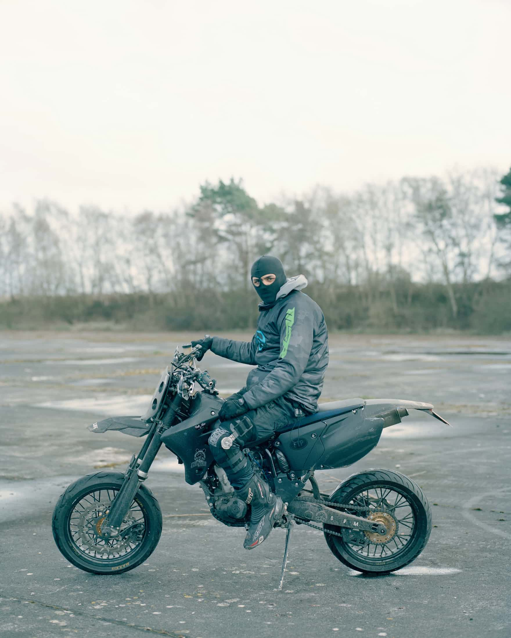- Izzy of the Super Dupa Moto's'Riders tend to mainly meet up on a Sunday and repurpose disused airstrips and out of the way industrial estates, hidden away from unwanted attention from the public and police'
