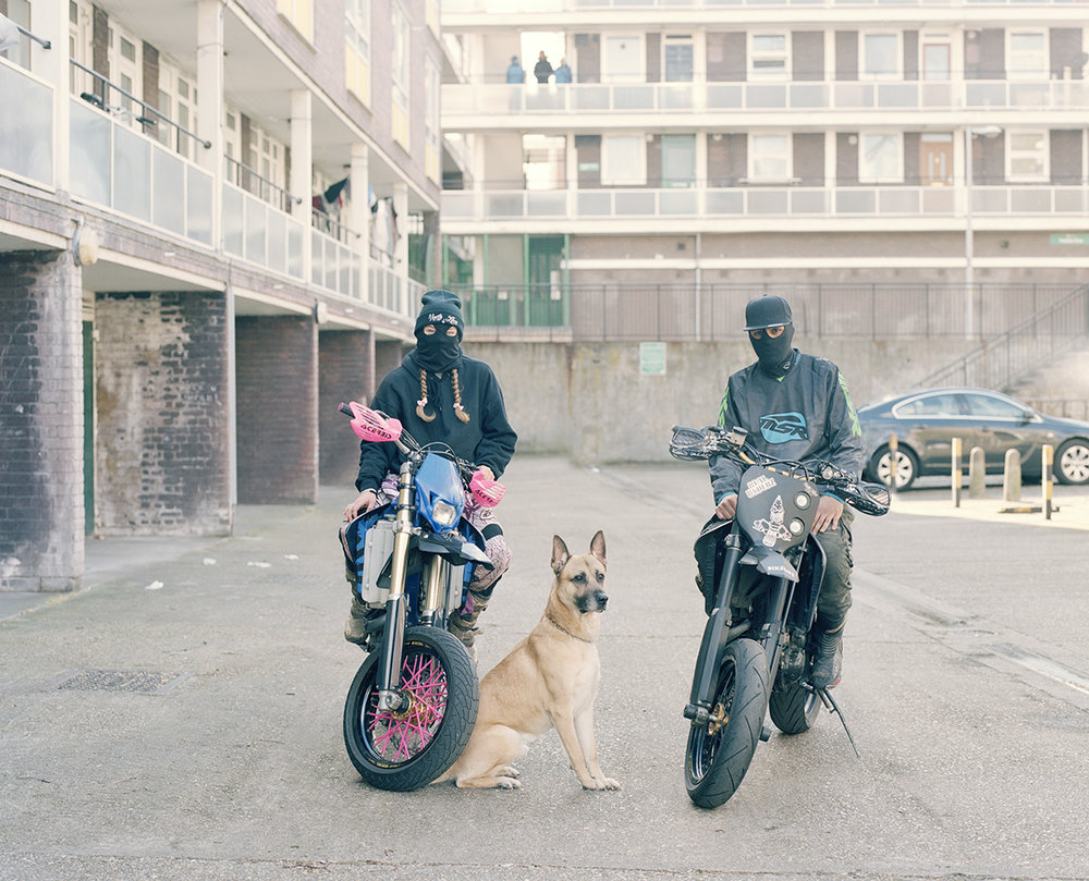 - Naomi, Zeus and Izzy of the Super Dupa Moto's'As someone who grew up in the countryside and has never ridden a motorbike on the roads, it's hard to be a voice for the inner-city men and women who ride bikes in these pictures, but I wanted to celebrate them as daredevils rather than demonise them as lawless gangs