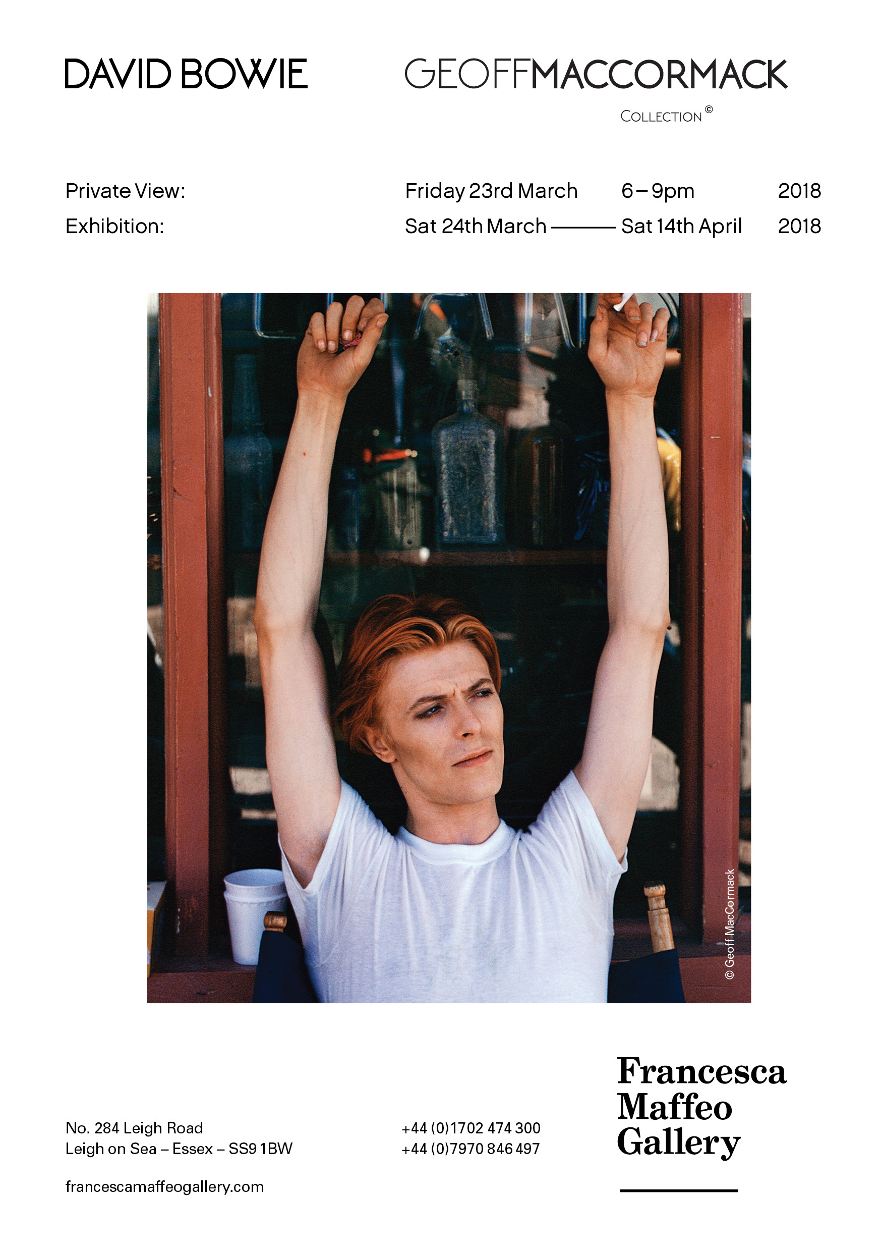 Geoff MacCormack Collection | David Bowie     Press Release      Print Sales