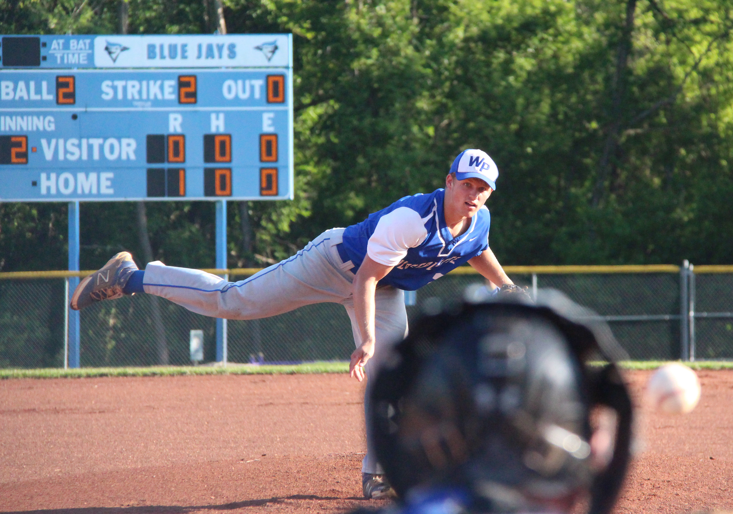 ROSS MARTIN/Citizen photo West Platte senior Brett Shepardson delivers a pitch during the first inning against Adrian in a Class 2 sectional Tuesday, May 24 at Benner Park in Weston, Mo.