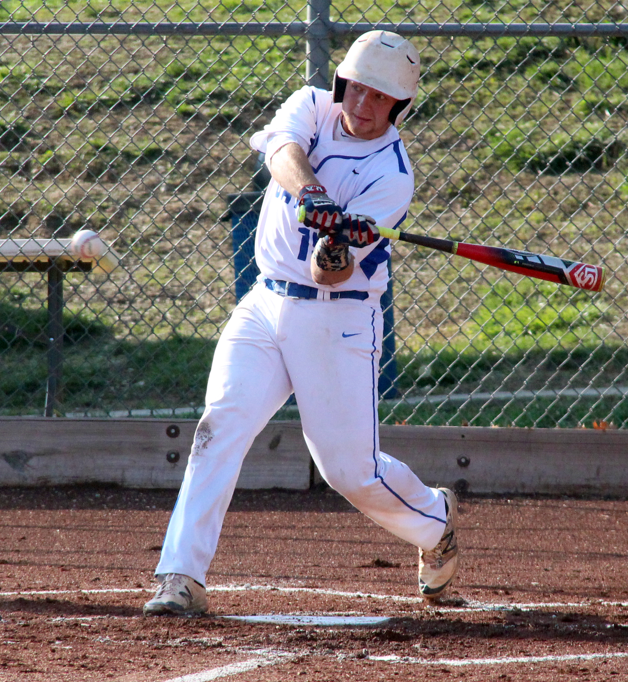 ROSS MARTIN/Citizen photo West Platte senior catcher Peyton Morris takes a swing during a Class 2 quarterfinal against Lincoln on Wednesday, May 25 at Benner Park in Weston, Mo.