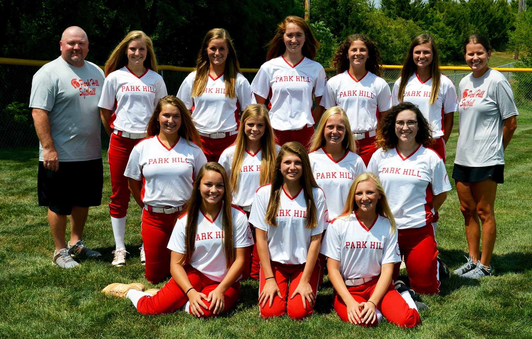 Front row, from left: Alexa Lashbrook, Josie Heckman and Miranda LaMunyon. Second row, from left: Isabella Anderson, Kirsten Waldon, Jessie Binckley and Sarah Werner. Back row, from left: Coach Qualls, Carley Ramsey, Kaelyn Day, Addison Devers, Kali Day, Isabella Wahlert and coach Mosier. Not pictured: Peyton Morehouse, Gracen Santoyo.